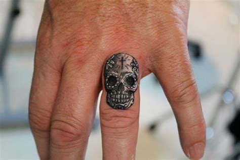 sugar skull finger tattoo skull designs for skull