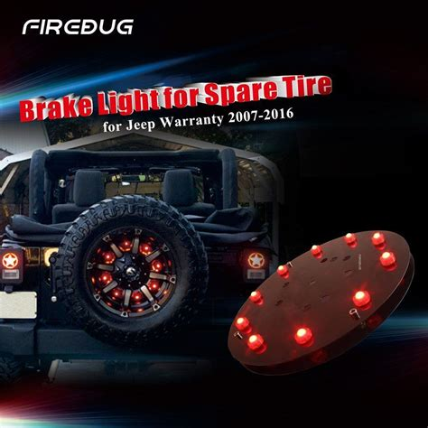 jeep accessories lights firebug jeep wrangler 3rd brake light spare tire led