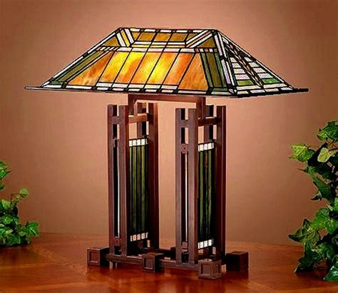 Frank Lloyd Wright Lamp by Table Lamps Mission Lamps Tiffany Lamps Stained Glass