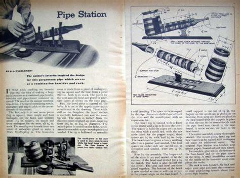 tobacco pipe rack plans 1947 tobacco pipe station rack humidor diy lathe plans ebay