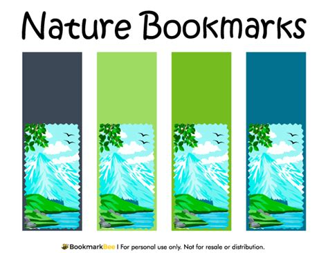 Free Printable Nature Bookmarks | free printable nature bookmarks each bookmark features a