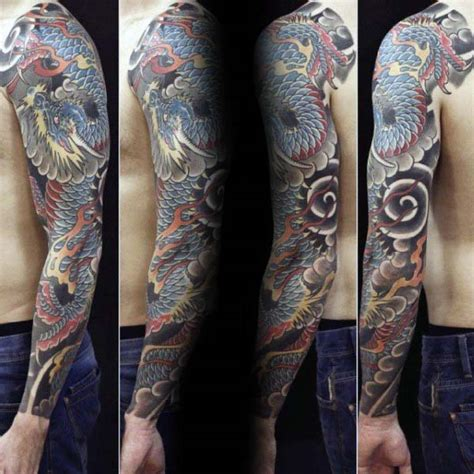japanese tattoo on arm 90 japanese dragon tattoo designs for men manly ink ideas