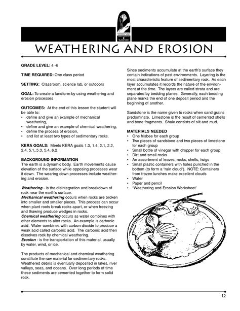 Weathering And Erosion Worksheets by 15 Best Images Of Weather Worksheets 4th Grade Weather