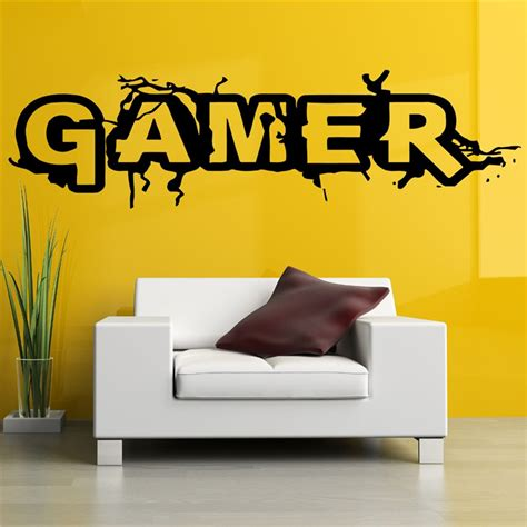 other words for home decor aliexpress buy wall room decor vinyl sticker mural decal gamer word big large