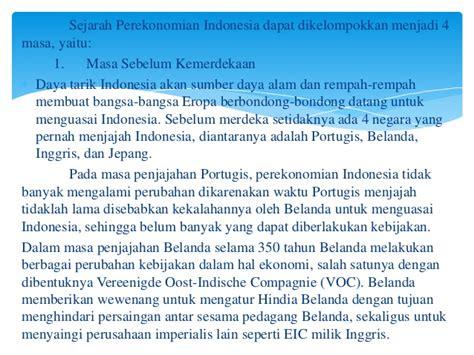 Ekonomi Indonesia Dalam Lintasan Sejarah Oleh Boediono presentation2 pptx sejarah perekonomian indonesia