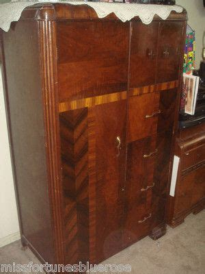 1930 s art deco waterfall bedroom furniture 6 pieces vintage 1930 art deco bedroom waterfall furniture armoire