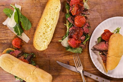 roasted tomatoes recipe sliced steak sandwiches with roasted tomatoes rachael ray