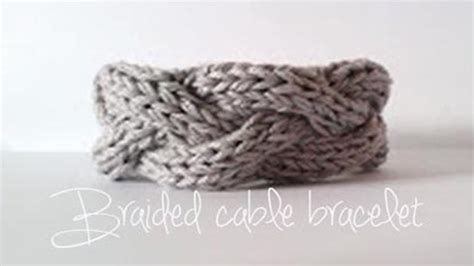 knitting tutorial braided cable bracelet
