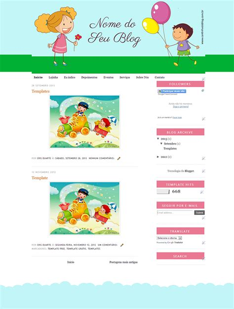 template gr tis soft cantinho do blog template gr 225 tis infantil cantinho do blog