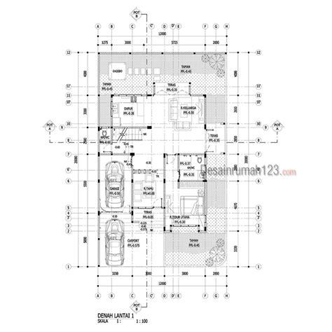 desain rumah tropis  lantai  lahan hook     dr