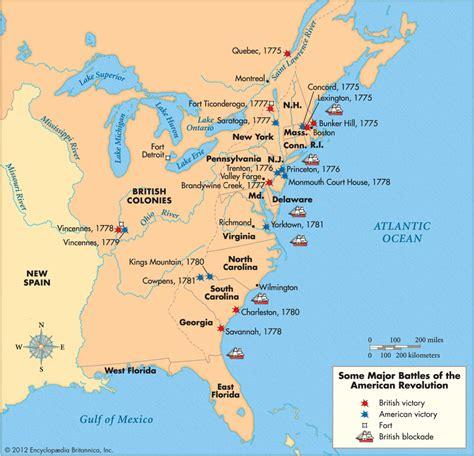 american battles map revolution 7th grade humanities