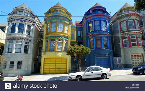 san francisco colorful houses colorful houses haight ashbury district san francisco