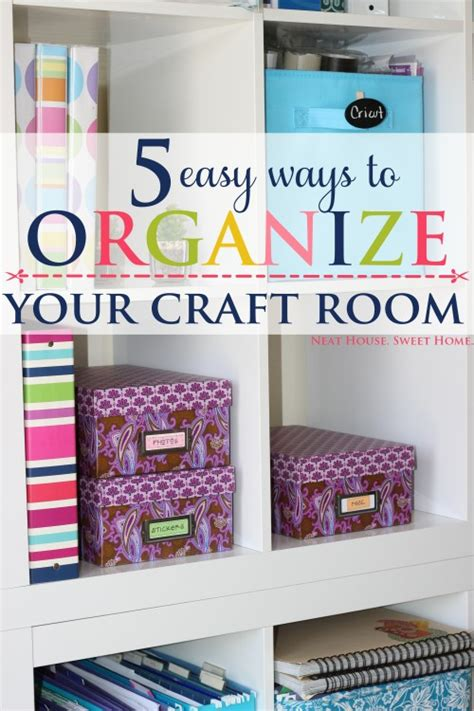 5 easy craft room organization tips home organization