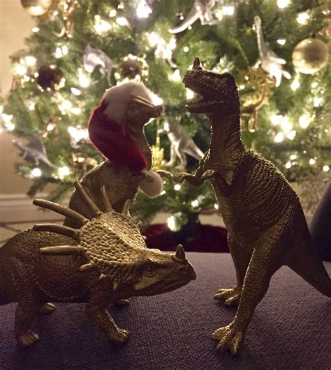 metallic dinosaur christmas ornaments dinosaur wreath