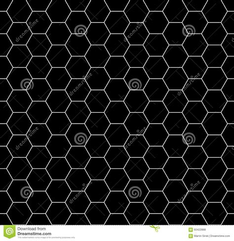 honeycomb pattern black and white vector modern seamless geometry pattern honeycomb black