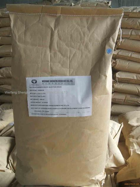 Dextrose Anhydrate dextrose monohydrate injection grade products china
