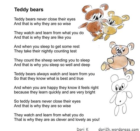 The Teddys And Toys Address Book poems for children dori kirchmair