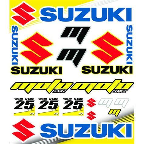 suzuki yaris grenaji sponsor sticker seti motografix