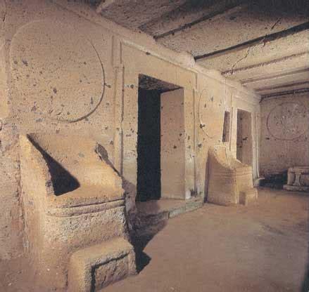 tomba degli scudi e delle sedie cerveteri tomba degli scudi e delle sedie