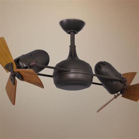 Dual Fan Ceiling Fans by 41 Quot Matthews Dagny Bronze And Mahogany Dual Ceiling Fan