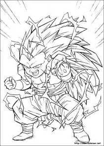 ssj3 gt colouring pages