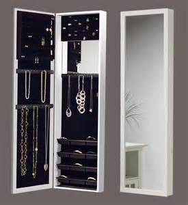 the door mirrored jewelry armoire