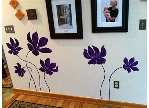 Wall Paint Patterns Hand Painted Wall Flowers For The Home Pinterest
