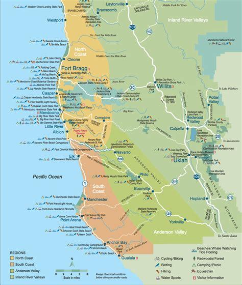 california map mendocino county mendocino california map