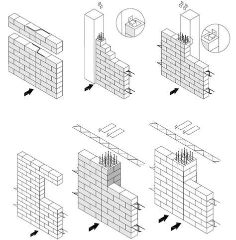 traliccio elettrosaldato area tecnica blocchi dettagli costruttivi