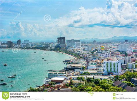 beautiful gulf landscape of pattaya thailand royalty free