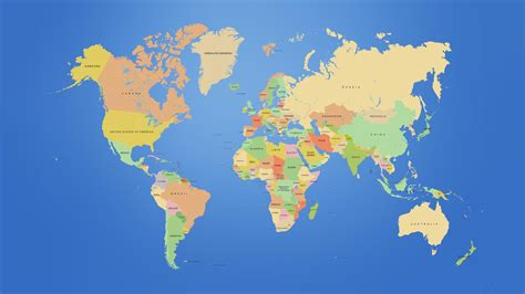 world map with each country name this is a map of the world showing the continents and the