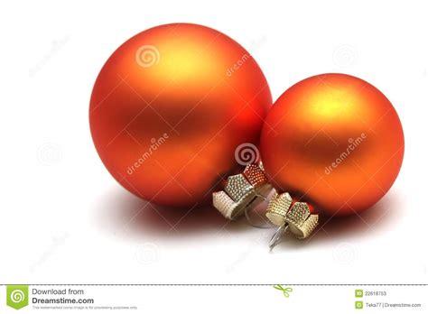 orange christmas spheres stock image image of sphere