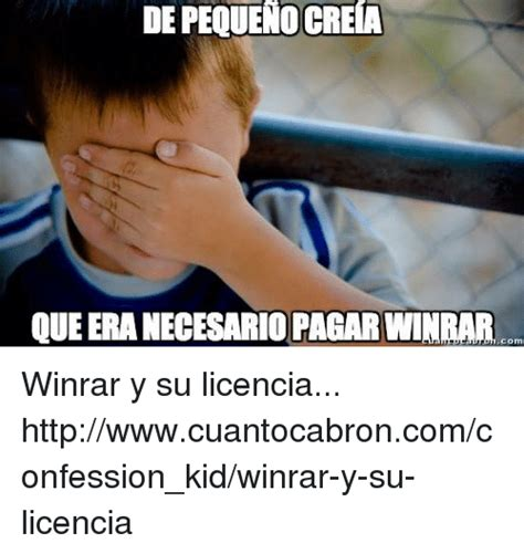 Confession Kid Meme - depequenocreia queeranecesarioragarwinrar winrar y su