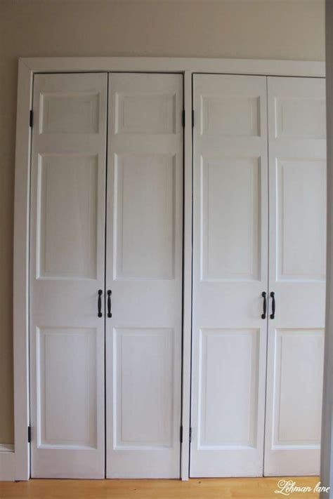 Diy Bi Fold Closet Doors Diy Closet Door Makeover Bi Fold To Hinged Lehman