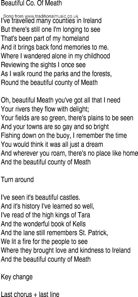 beautiful in white lyrics free mp3 download irish music song and ballad lyrics for beautiful co of meath