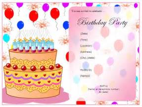 birthday party invitation template free layout amp format