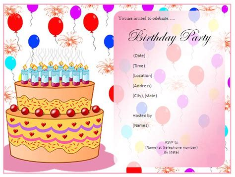 Best Resume Iphone App by Birthday Party Invitation Template Blue Layouts