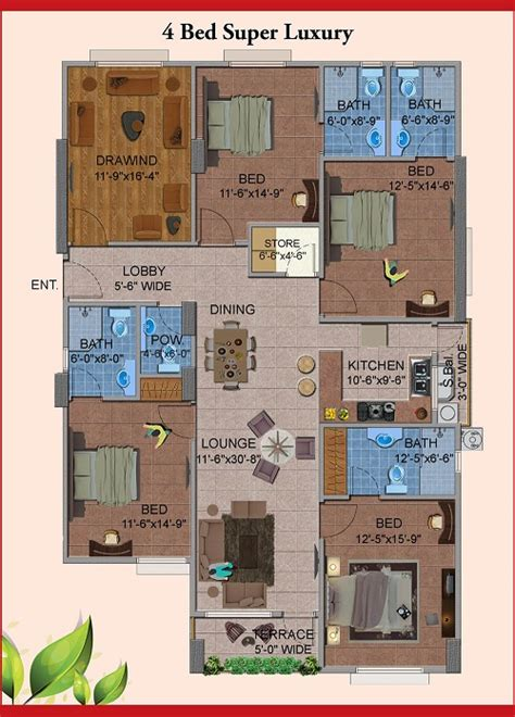 4 bedroom luxury apartment floor plans king s luxury apartments shaheed e millat road karachi