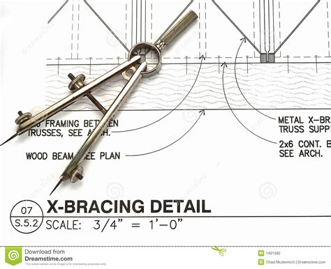 architecture drawing tool architect s tools and plans stock photo image 1401582