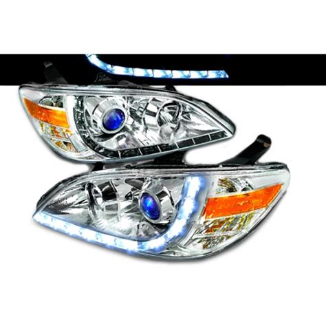 Headl Civic White Projector 2004 2005 1 2004 2005 honda civic halo r8 style projector headlight chrome 1 pair