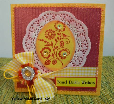 Images Of Handmade Rakhi Cards - handmade rakhi cards juhi s card shop