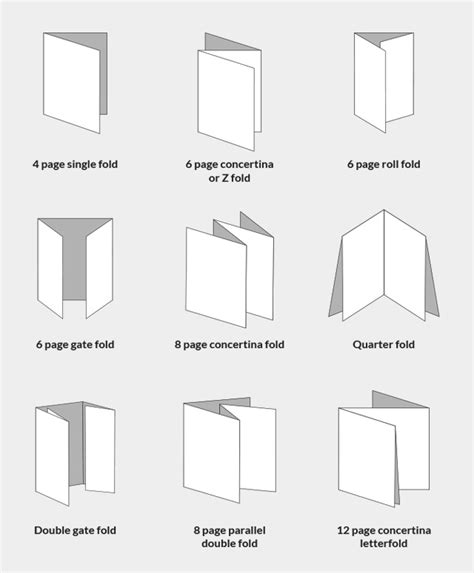 Types Of Paper Folds - paper fold types 28 images brochure fold design