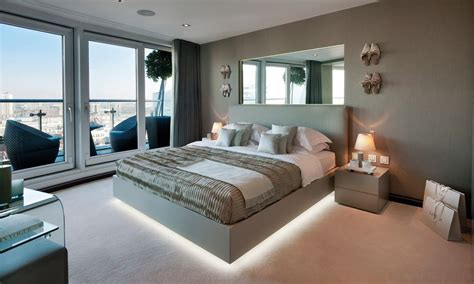 platform bed with lights underneath floating beds elevate your bedroom design to the next level