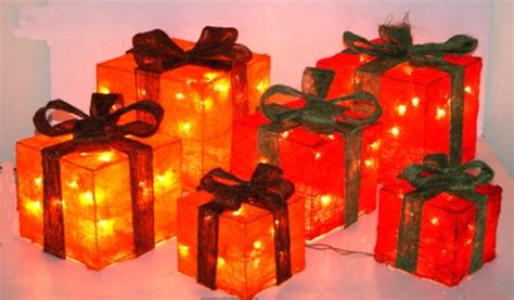 Weihnachtsdeko Für Fenster Mit Batterie by Beleuchtete Geschenke Weihnachtsdeko Sisal Weihnachten Ebay