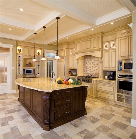 Large Kitchen Island With Seating Cool Chandelier