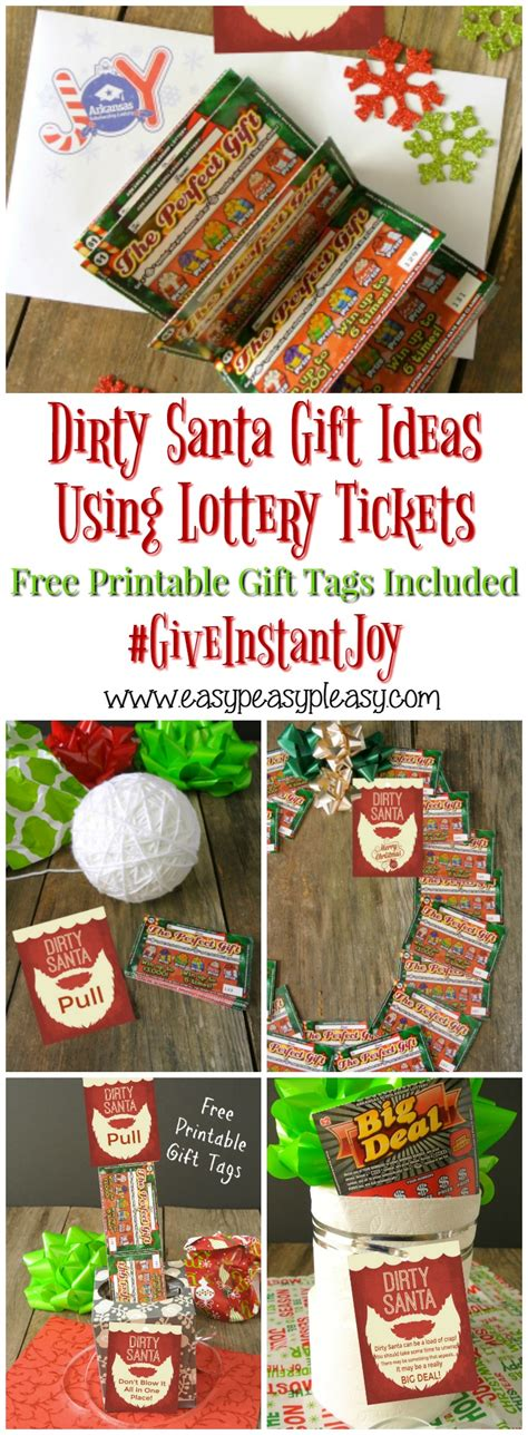 raunchy christmas gifts santa lottery tickets the gift easy peasy pleasy