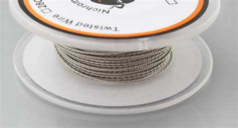 Twisted Wire Nichrome 80 26x2 7 45 kuken tech nichrome 80 twisted staple heating wire authentic 28 4 awg 0 32mm 4 dia