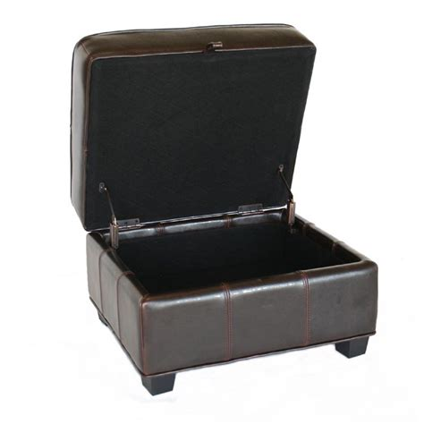 Storage Ottoman Black Leather Wholesale Interiors Bicast Leather Storage Ottoman Black A 136 Black Ottoman