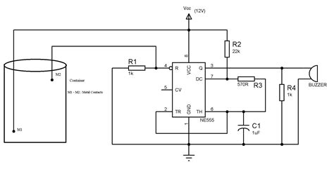 water level indicator project with circuit diagram water level indicator using ne555 circuit jpg 1831 215 931