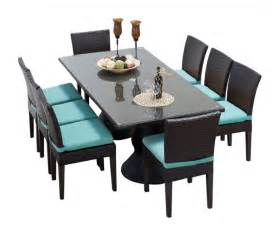Patio Dining Table Set For 8 Saturn Rectangular Outdoor Patio Dining Table With 8